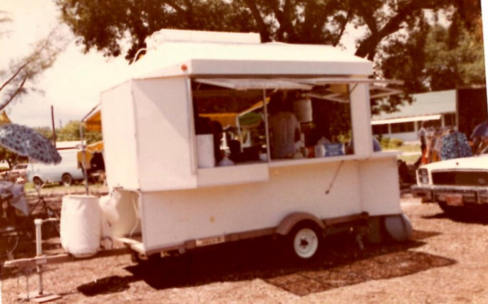 The food truck, called the ladybug trailer