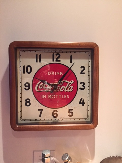 A 1930s Coca Cola wall clock Deutch bought at an estate sale. (Courtesy of Richard Deutch)