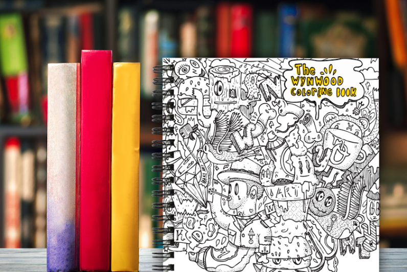 Front cover of Wynwood Coloring Book (Photo courtesy of Diego Orlandini)