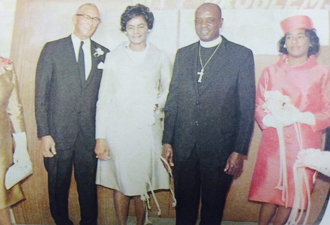 Thelma and Theodore Gibson with Thelma's parents. (Courtesy of Forbearance : Thelma Vernell Anderson Gibson : the life story of a Coconut Grove native)