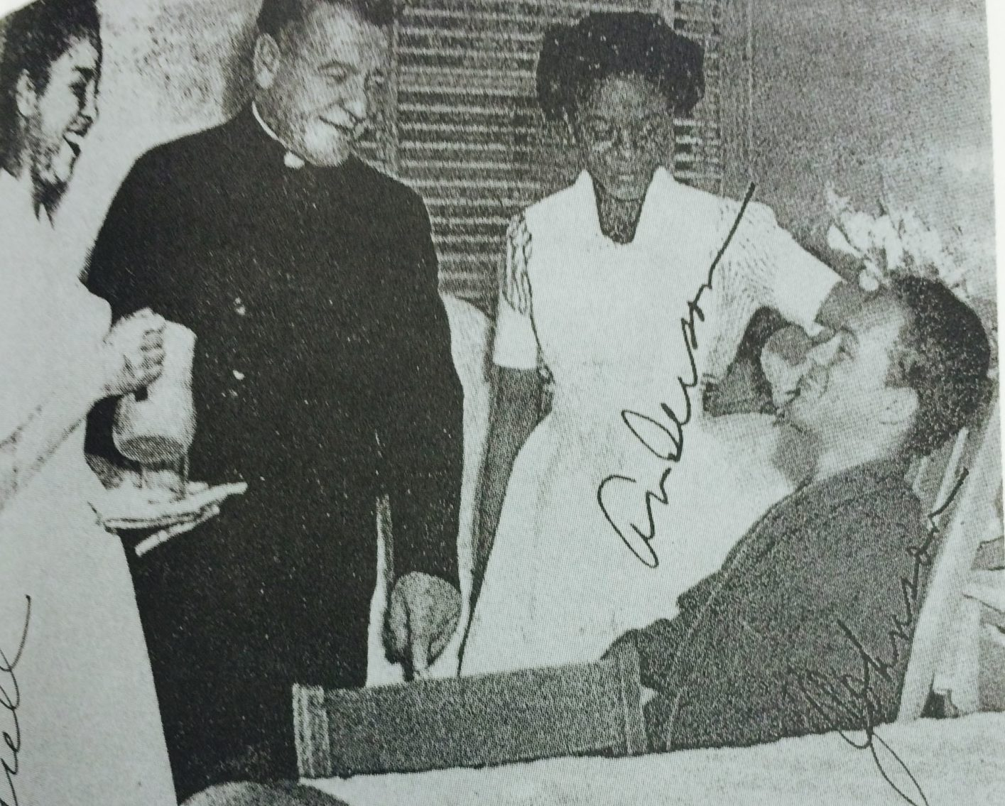 Gibson working as a nurse comforting a patient. (Courtesy of Forbearance : Thelma Vernell Anderson Gibson : the life story of a Coconut Grove native)