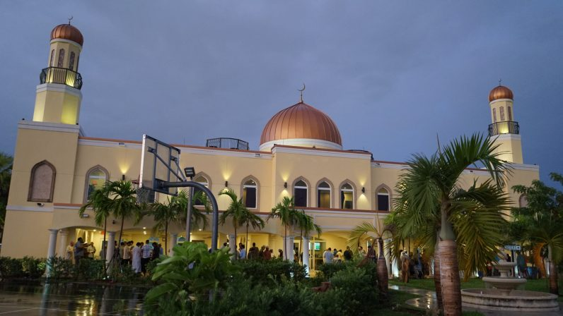 Masjid Miami Gardens just before sunset.