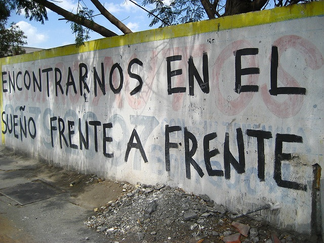 Love poetry on a wall in Buenos Aires (Courtesy of Natalia Martinez-Kalinina)