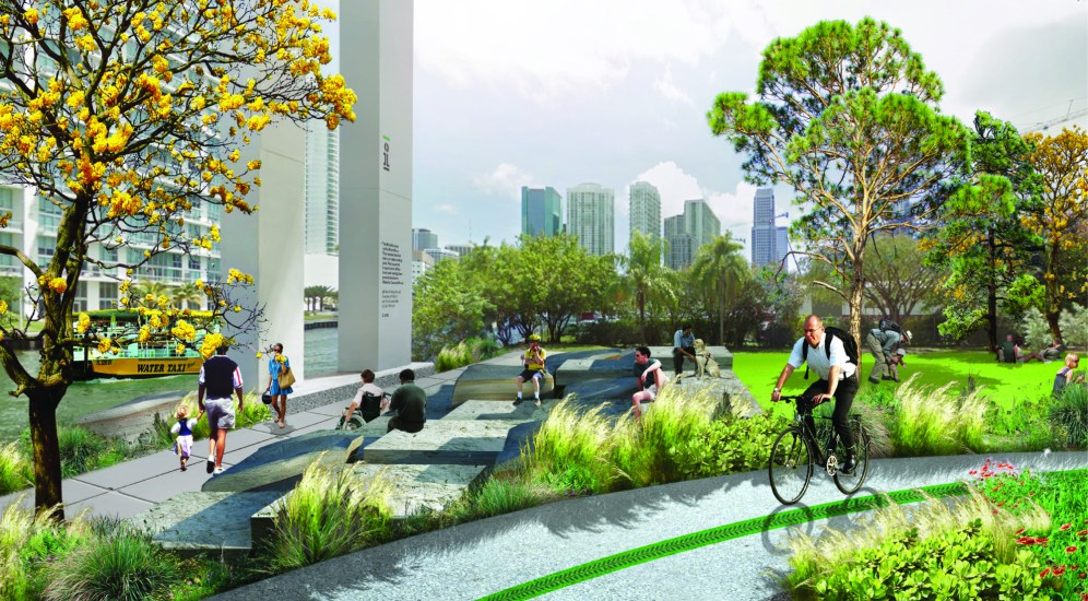 A rendering of the Brickell section of The Underline in the framework plan (Courtesy of Friends of the Underline)