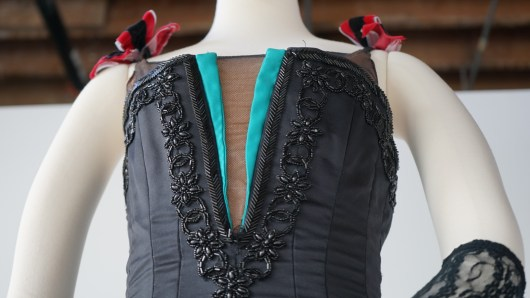 The bodice for a costume for Western Symphony (Credit: Roshan Nebhrajani/The New Tropic)