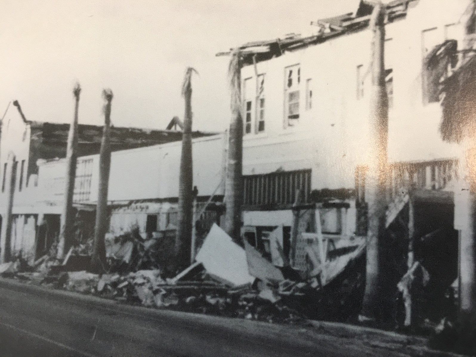 Downtown Homestead's Horne building lost it's top floor because of Hurricane Andrew (Courtesy of the Jean Taylor Collection, HistoryMiami Museum)