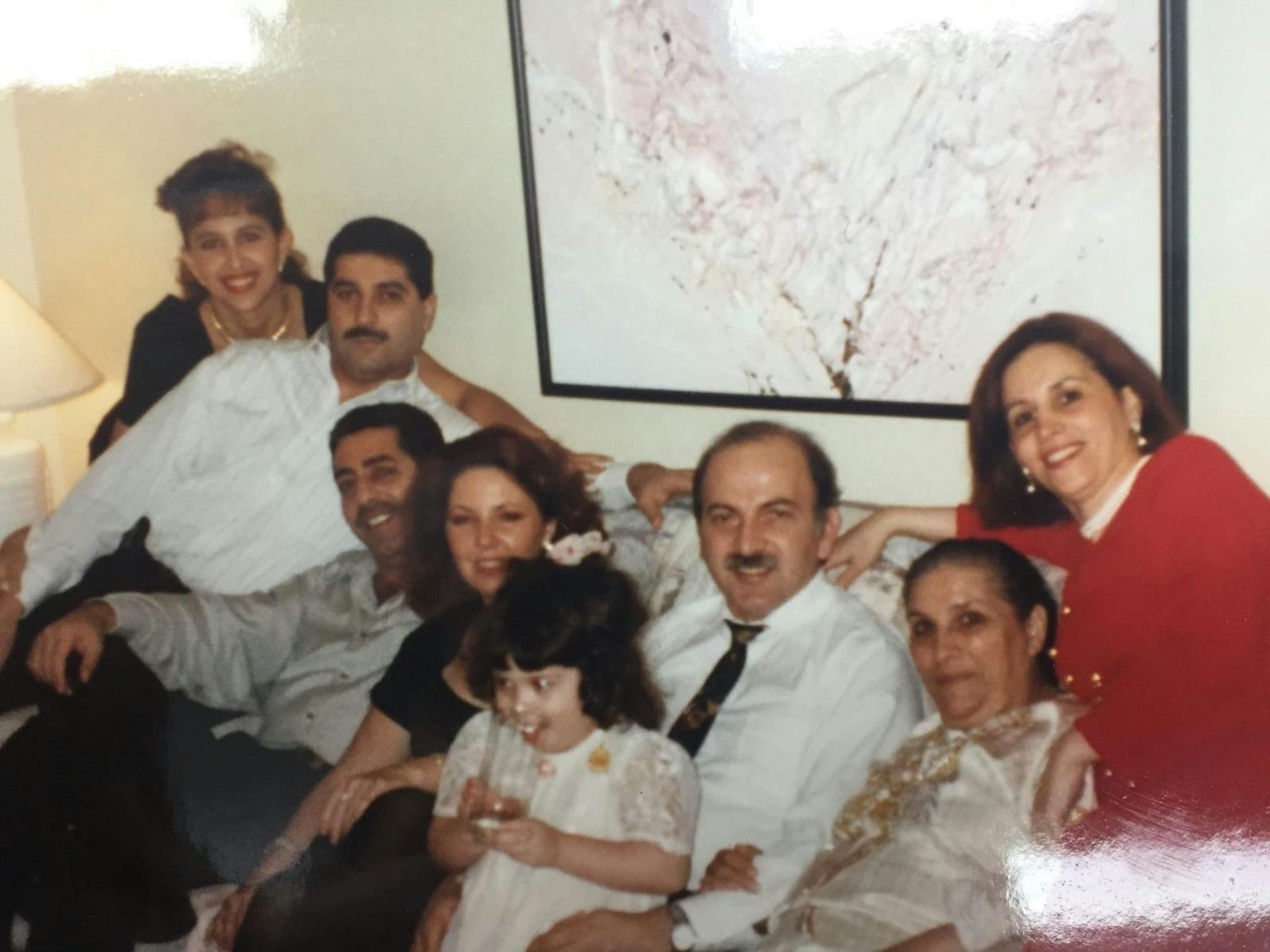 Jasmin and her father with Colombian, Syrian, and American members of the family