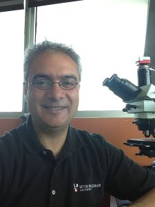 Hadi Yaziji in his pathology lab.