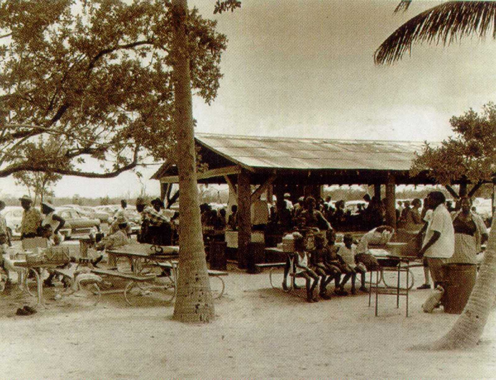 Pavilions at the beach (Courtesy of the Historic Virginia Key Beach Trust)