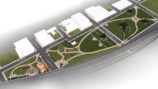 A rendering of the full park.