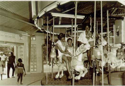 The carousel at Virginia Key Beach. (Courtesy of the Historic Virginia Key Beach Trust)
