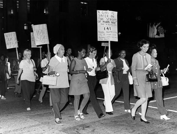 A march against rape on Miami's streets in 1971 (Courtesy Miami News Collection, HistoryMiami)