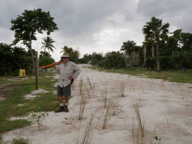 After planting the West Dune at Historic Virginia Key Park. 2009. (Courtesy of Sam Van Leer)