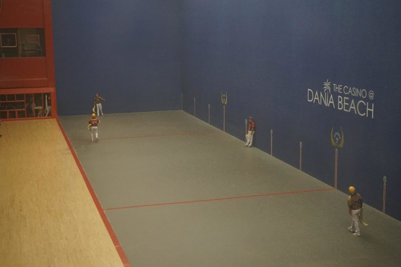 Jai-alai is played on a three-walled court, similar to racquetball. (Credit: Roshan Nebhrajani/The New Tropic)