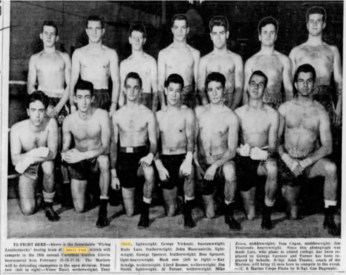 (kneeling 2nd from left) posing on the Marine's Boxing Team