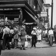 Ludlow Street, one of the most famous Streets in the Jewish area on the Lower East Side. Note the street vendors. This area was a great place to get cheap deals on top name brands. I've shopped there many times through the years.