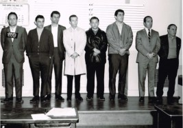 A roundup of Providence hoods. Rudy Sciarra on left. Louie Mannocchio second from the right