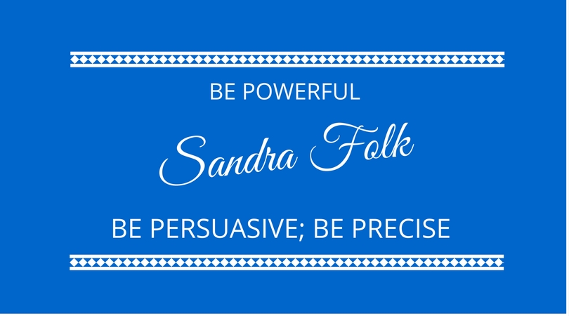 #41 The 3 P's of Communication with Sandra Folk