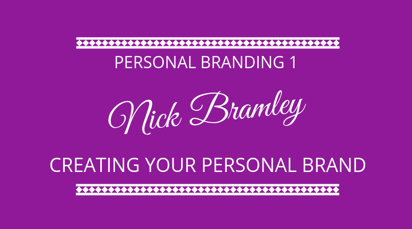 Creating your personal brand with Nick Bramley. We discuss personal branding on The Next 100 Days Podcast