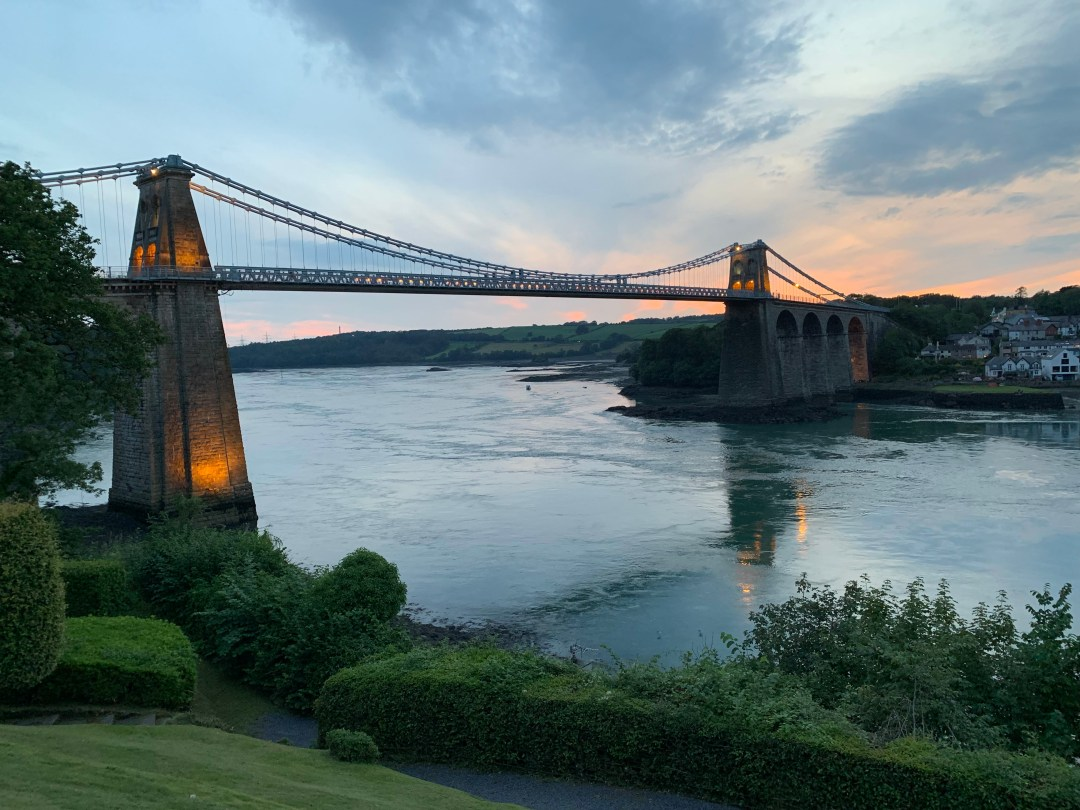 Menai Bridge built by Thomas Telford