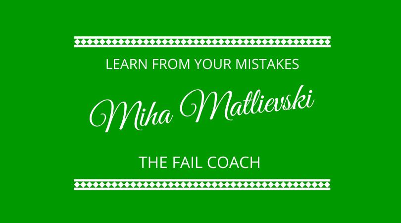 Miha Matlievski the Fail Coach joins Graham Arrowsmith and Kevin Appleby on The Next 100 Days Podcast