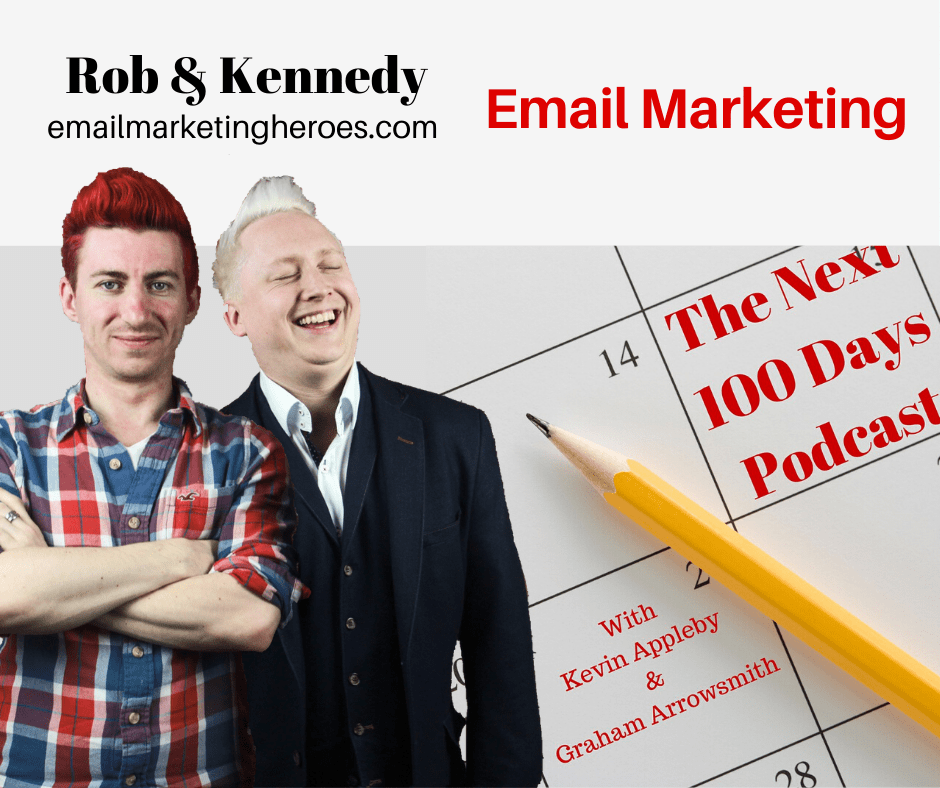 Rob and Kennedy on The Next 100 Days Podcast with hosts Kevin Appleby and Graham Arrowsmith