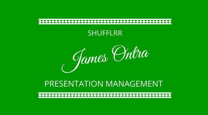 James Ontra from Shufflrr joins Kevin Appleby and Graham Arrowsmith on The Next 100 Days Podcast to explain presentation management