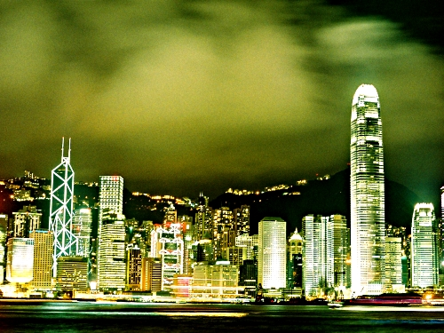 Hong Kong skyline at night - Thom Allen