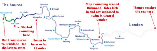 Progress - River Thames Swimming Map