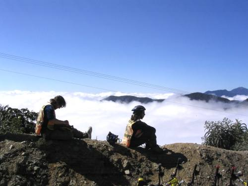 Above the clouds on the World's Most Dangerous Road, Bolivia