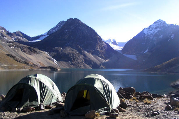 Base camp in the Bolivian Quimsa Cruz