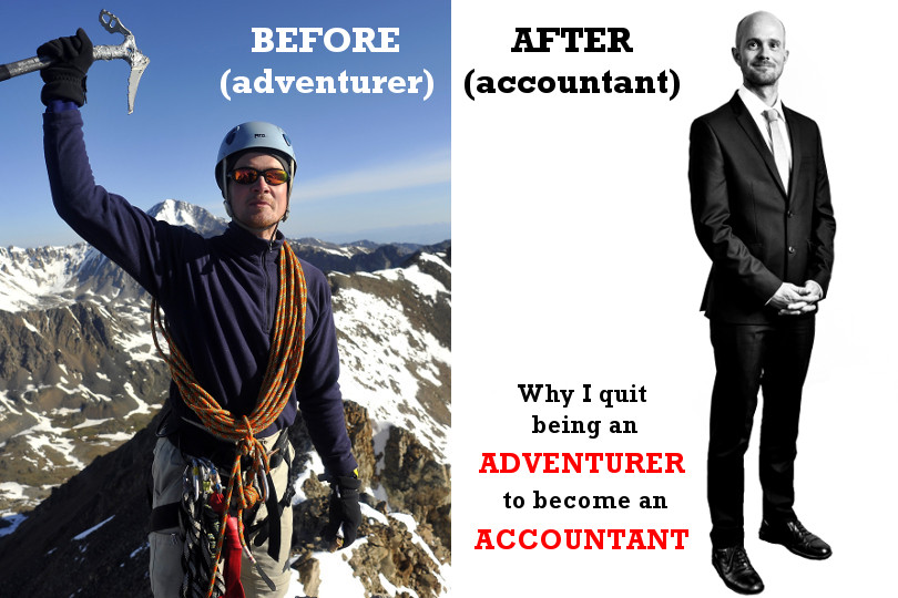 Why I quit being an adventurer to become an accountant