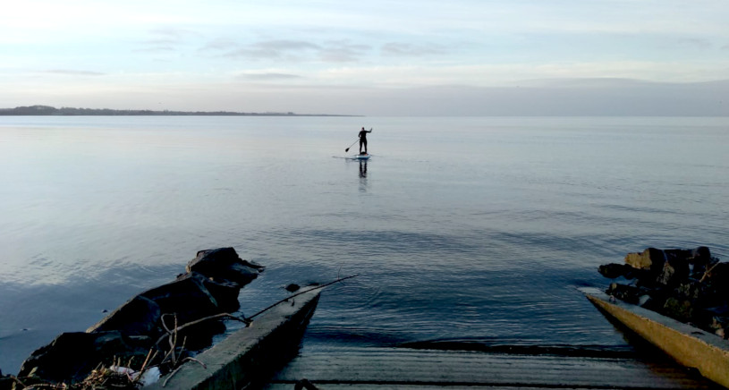 Joanne McCallum - SUP Lough Neagh - Paddle off