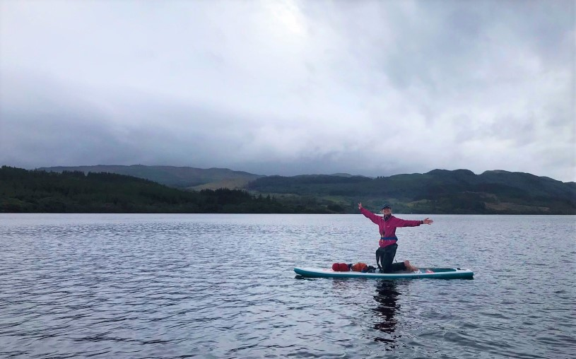 Jo Laird - Paddle-boarding -Lake Awe, Winderness and Bala