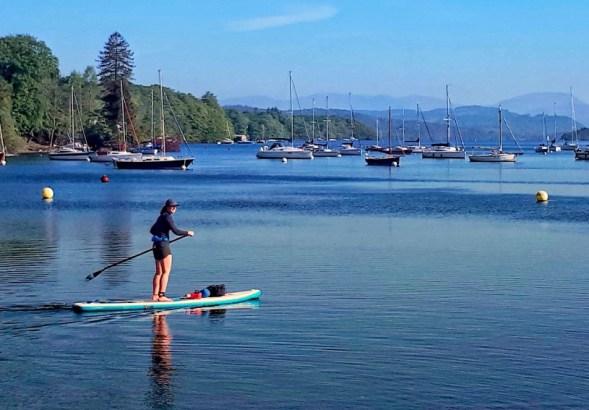 Jo Laird - Paddle-boarding -Lake Awe, Winderness and BalaJo Laird - Paddle-boarding -Lake Awe, Winderness and Bala