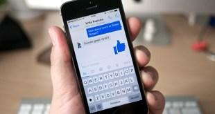 Facebook app on a smartphone