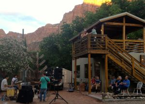 A Mormon family band played some classic rock tunes for the townspeople, and us, in Springdale, Utah.