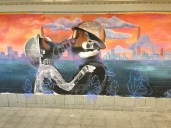 Great murals in a tunnel