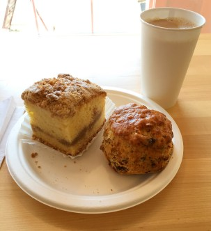 Coffee Cake and Sausage Scones with Stumptown Coffee at Red Truck Bakery