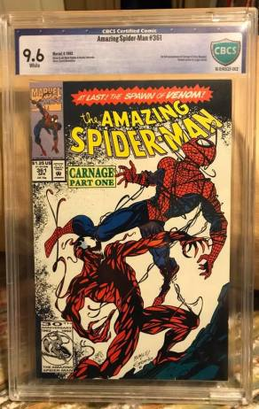 I had this one graded myself. One of my first. Long before the hype. For my son and I, Carnage was one of our favorite characters. It was ours when Carnage didn't mean s**t to anyone.