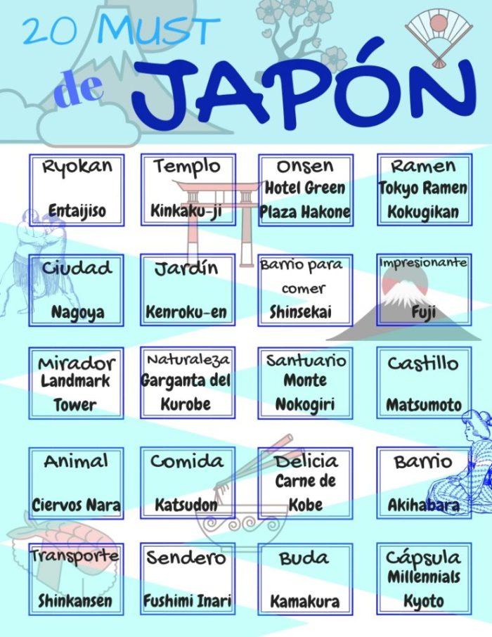 20 must Japón