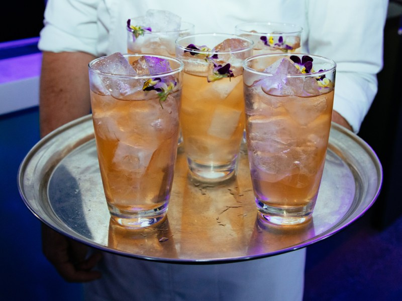 Highgarden Fizz Cocktail at Launch of White Walker by Johnnie Walker_Bondi Icebergs_Wed 5 Dec_Credit Jack Bennett