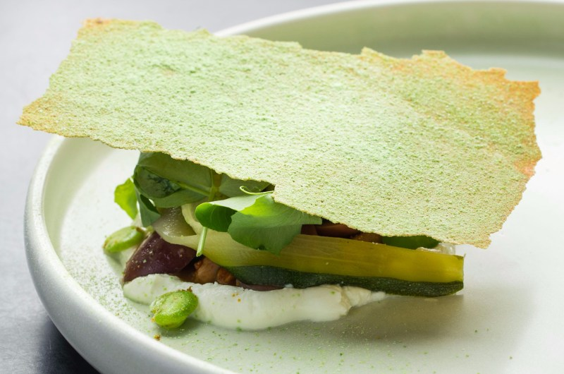 goats-curd-pickled-zucchini-broad-beans-smoked-almond-green-olive-e1546597398546.jpg