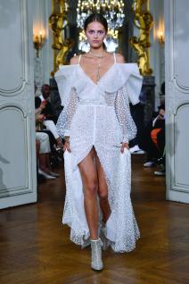 "PARIS, FRANCE - SEPTEMBER 27: A model walks the runway during the Kaviar Gauche""10 Years Bridal Couture"" Paris Fashion Week SS20 show as part of Paris Fashion Week on September 27, 2019 in Paris, France. (Photo by Kristy Sparow/Getyty Images for Kaviar Gauche)"