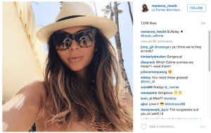 Next time, try to avoid reflecting your smartphone in your designer sunglasses, Marianna.