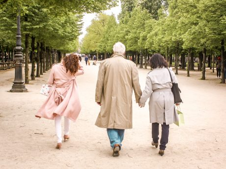 Walking through a park in Paris - after the surprise in Paris