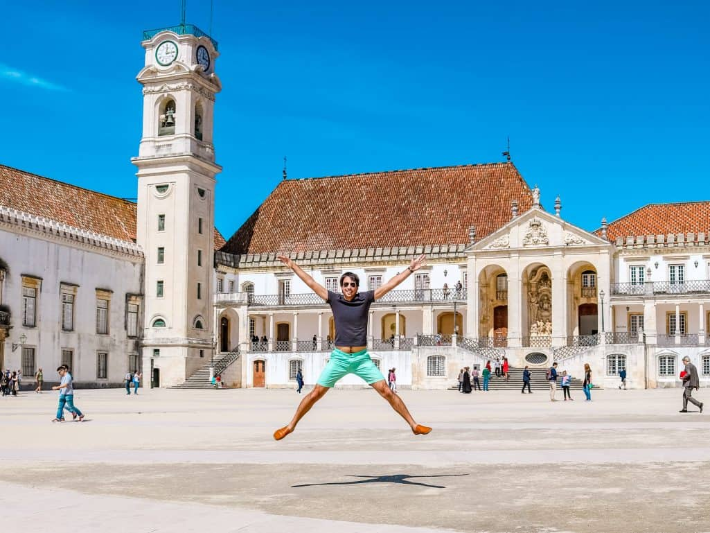 Kyle Jumping at University of Coimbra - The Next Trip