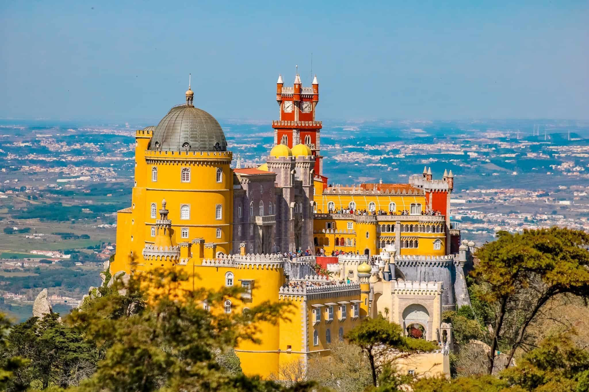 A Sintra Day Trip View of Pena Palace