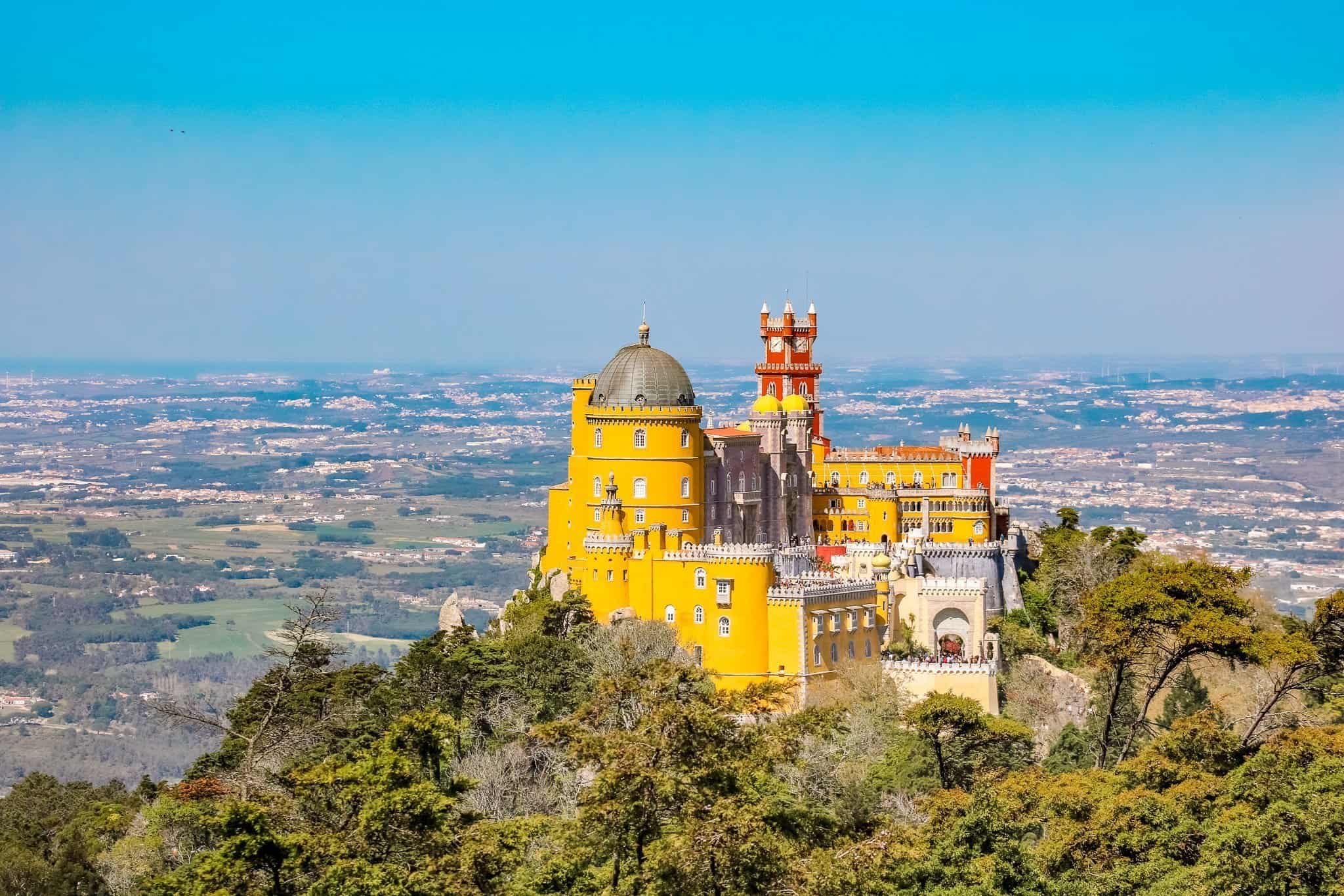 A Sintra Day Trip - View of Pena Palace - The Next Trip