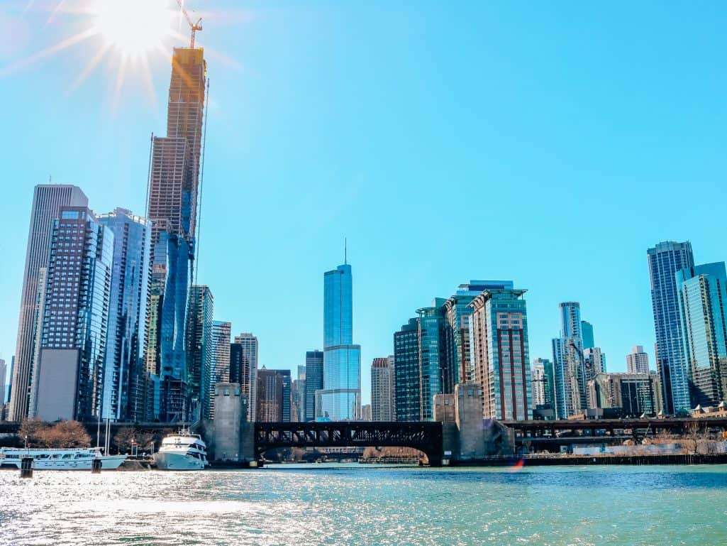Chicago Skyline from Lake Michigan - The Next Trip